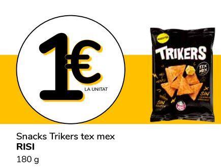 Oferta de Snacks Trikers tex mex RISI por 1€