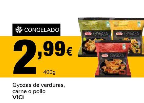 Oferta de Gyozas de verduras, carne o pollo VICI por 2,99€