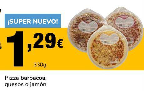 Oferta de Pizza barbacoa, quesos o jamón por 1,29€