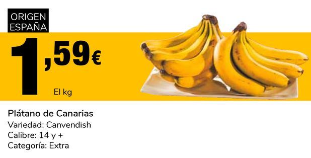 Oferta de Plátano de Canarias por 1,59€