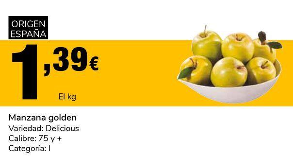 Oferta de Manzana golden por 1,39€