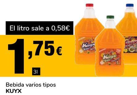 Oferta de Bebida varios tipos KUYX por 1,75€