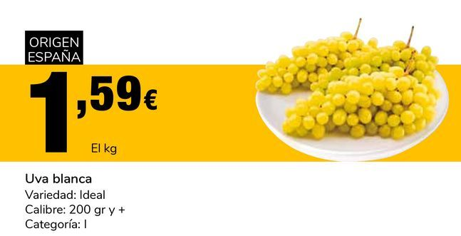 Oferta de Uva blanca  por 1,59€