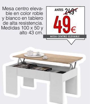 Oferta de Mesa de centro elevable en color roble Mediterráneo  por 49€