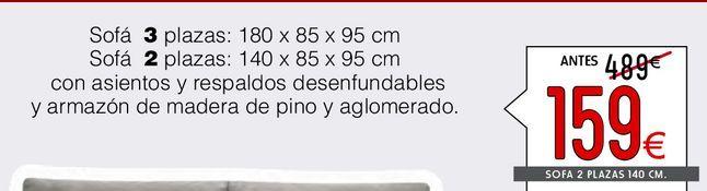 Oferta de Sofás 2 plazas ABRIL  por 159€