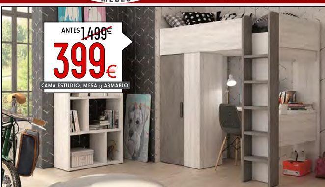 Oferta de Camas estudio,mesa y armario  PAM por 399€