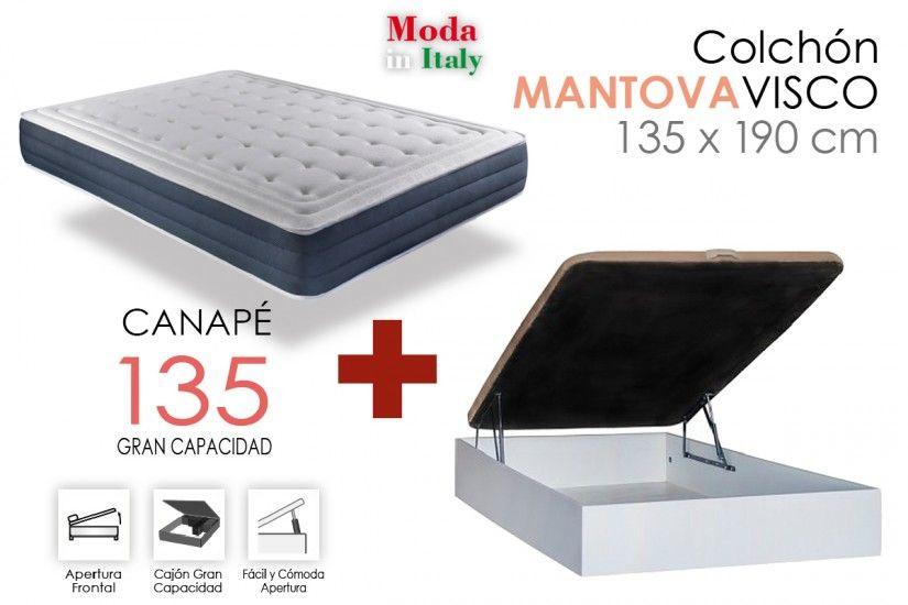 Oferta de PACK CANAPE RECKTO + MANTOVA por 295€