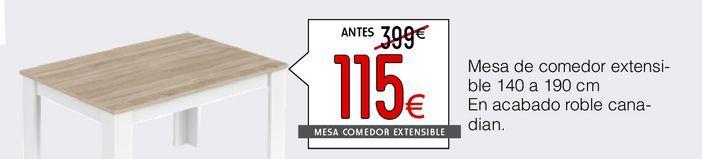 Oferta de Mesa de comedor extensible Mediterraneo  por 115€