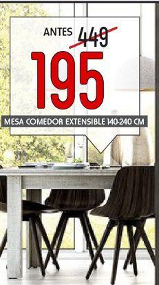 Oferta de Mesa de comedor extensible Sisney  por 195€