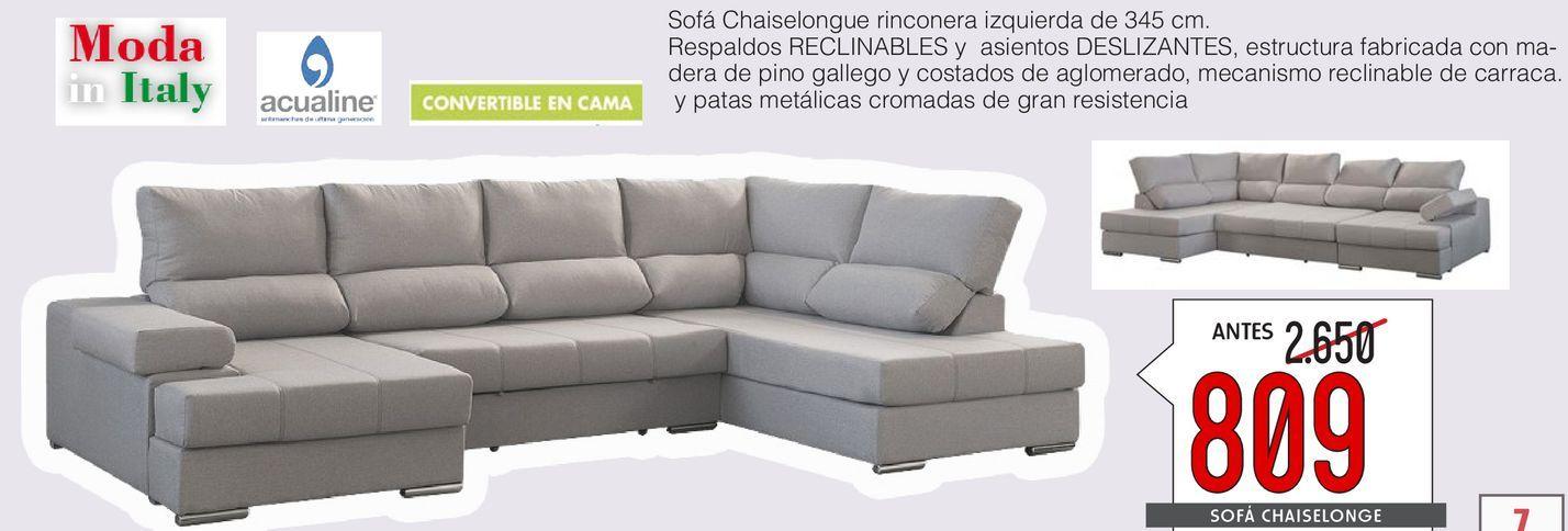 Oferta de Sofa chaise longue ITALIA  por 809€