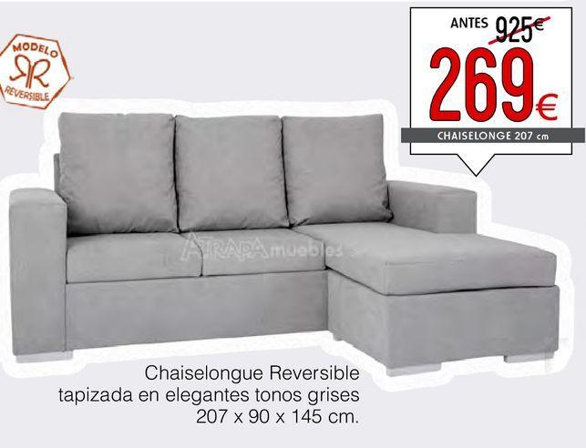 Oferta de Chaise longue reversible  CANYON  por 269€