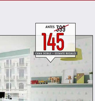Oferta de Cama doble + estante regalo  por 145€