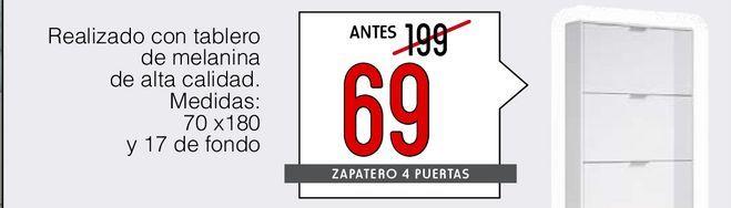 Oferta de Zapatero 4 puertas por 69€