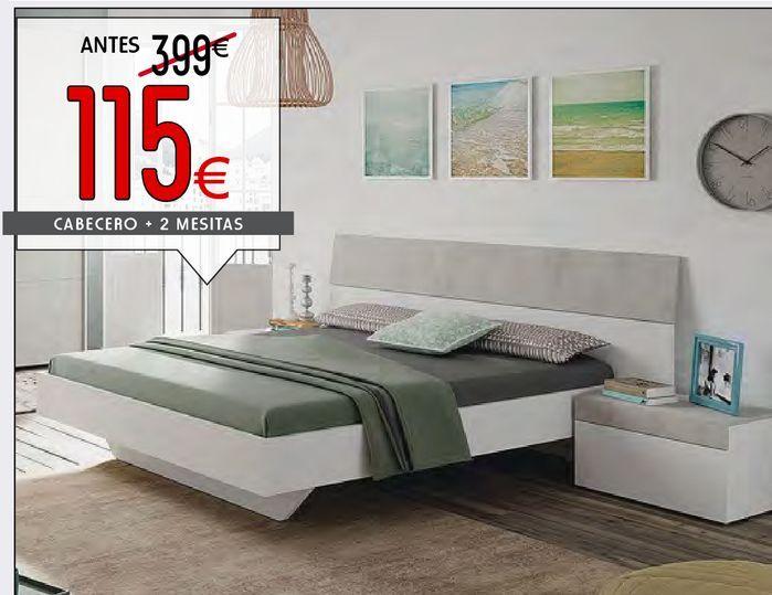 Oferta de Cabecero + 2 Mesitas TEKKAN  por 118€