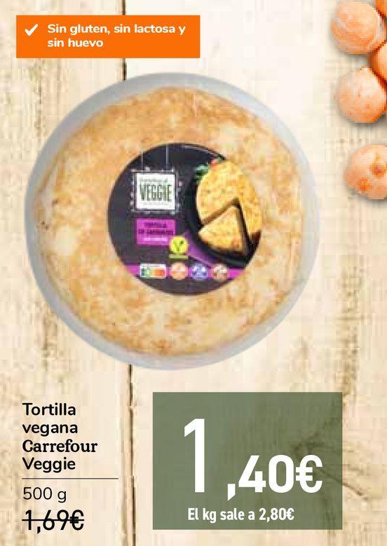 Oferta de Tortilla vegana Carrefour Beggie por 1,4€