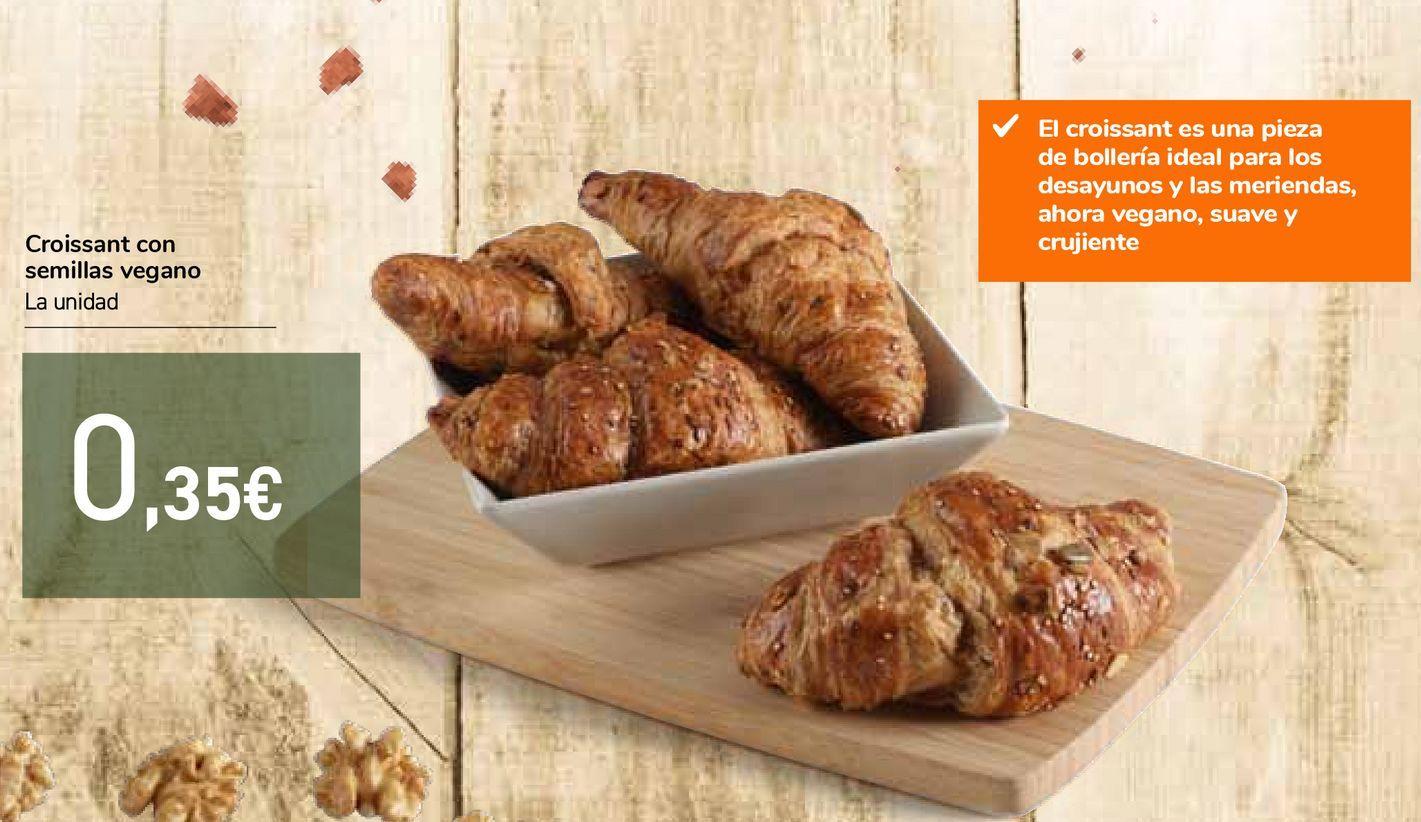 Oferta de Croissant con semillas vegano por 0,35€