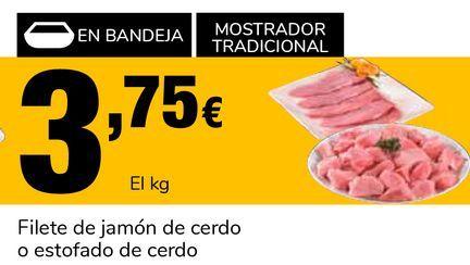 Oferta de Filete de jamón de cerdo o estofado de cerdo por 3,75€
