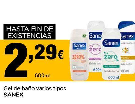 Oferta de Gel de baño varios tipos SANEX por 2,29€