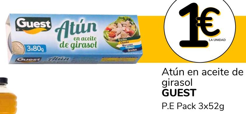 Oferta de Atún en aceite de girasol GUEST por 1€