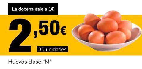 """Oferta de Huevos clase """"M"""" por 2,5€"""