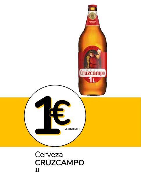 Oferta de Cerveza CRUZCAMPO por 1€