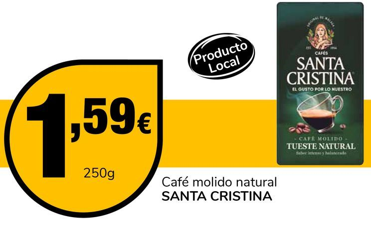 Oferta de Café molido natural SANTA CRISTINA por 1,59€