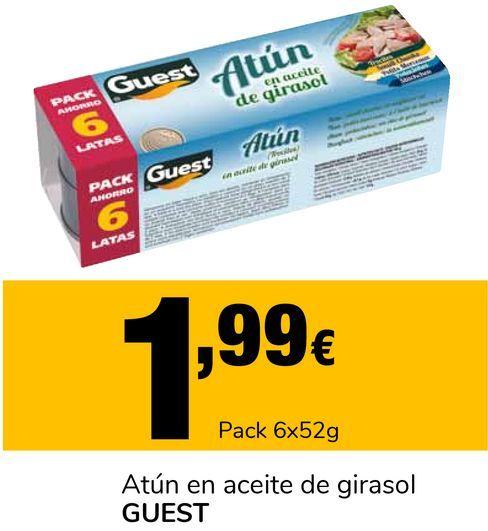 Oferta de Atún en aceite de girasol GUEST por 1,99€