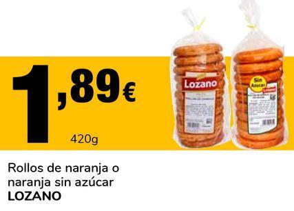 Oferta de Rollos de naranja o naranja sin azúcar LOZANO por 1,89€