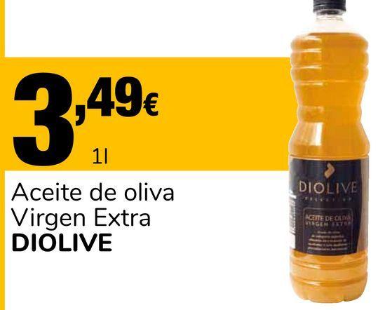 Oferta de Aceite de oliva Virgen Extra DIOLIVE por 3,49€