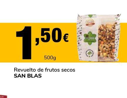 Oferta de Revuelto de frutos secos San Blas 500 g por 1,5€