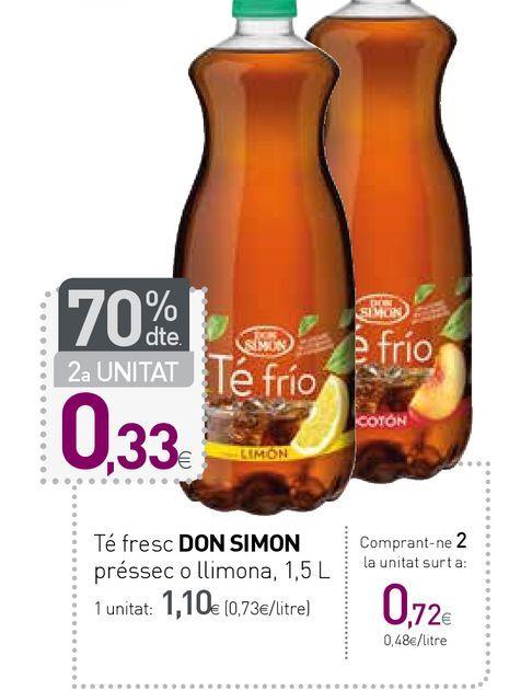 Oferta de Té helado Don Simón por 1,1€