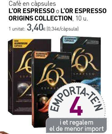 Oferta de Cápsulas de café l'or por 3,4€