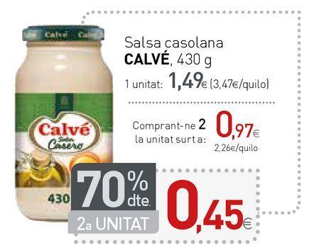 Oferta de Salsas Calvé por 1,49€