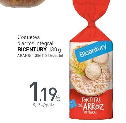Oferta de Galletas de arroz Bicentury por 1,19€