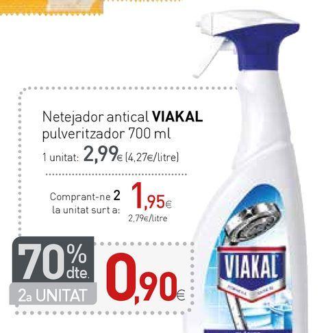 Oferta de Limpiadores Viakal por 2,99€