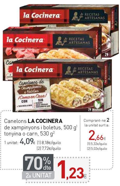 Oferta de Canelones La Cocinera por 4,09€