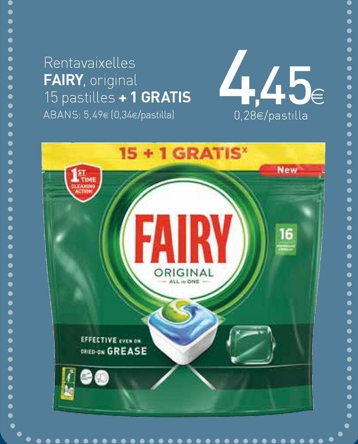 Oferta de Detergente lavavajillas Fairy por 4,45€