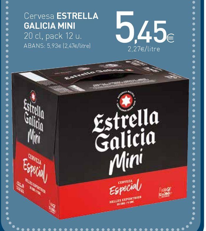 Oferta de Cerveza Estrella Galicia por 5,45€