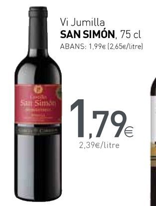 Oferta de Vino tinto por 1,79€