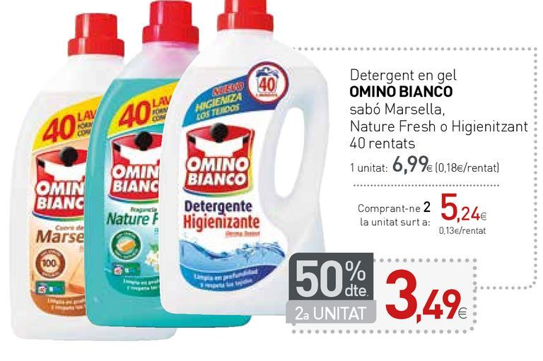 Oferta de Detergente gel Omino Bianco por 6,99€