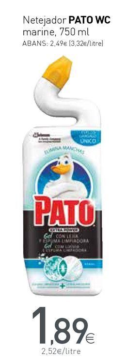 Oferta de Limpiadores Pato WC por 1,89€
