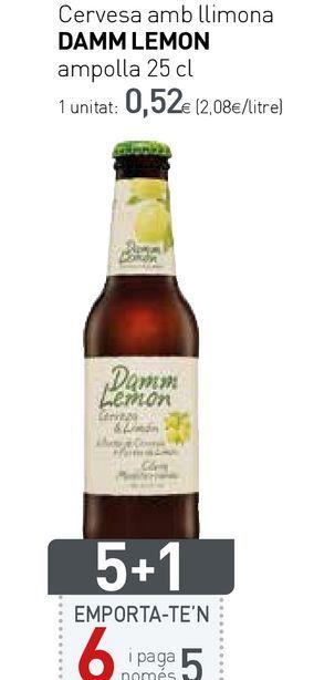Oferta de Cerveza con limón damm por 0,52€