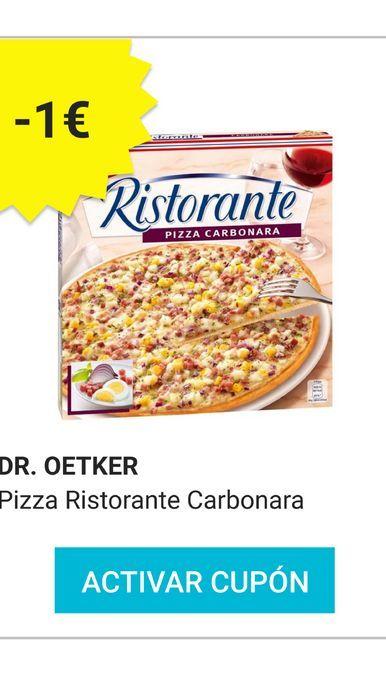 Oferta de Pizza carbonara Dr. Oetker Ristorante por