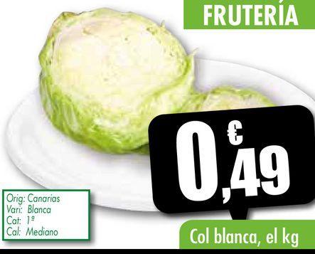 Oferta de Col blanca, el kg por 0,49€