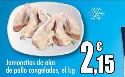 Oferta de Jamoncitos de alas de pollo congelados, el kg por 2,15€