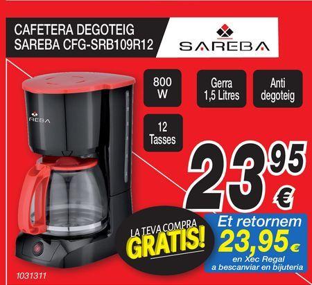 Oferta de Cafeteras Degotrig SAREBA  por 23,95€