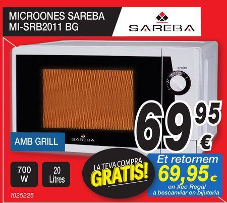 Oferta de Microondas SAREBA  por 69,95€