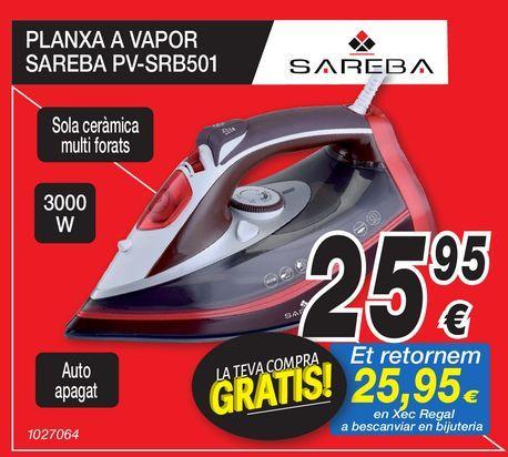 Oferta de Plancha de vapor SAREBA por 25,95€