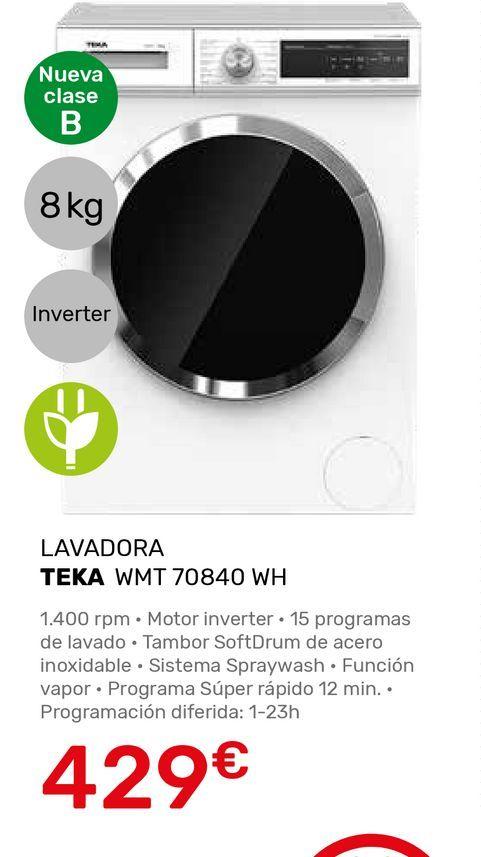Oferta de Lavadoras Teka por 429€