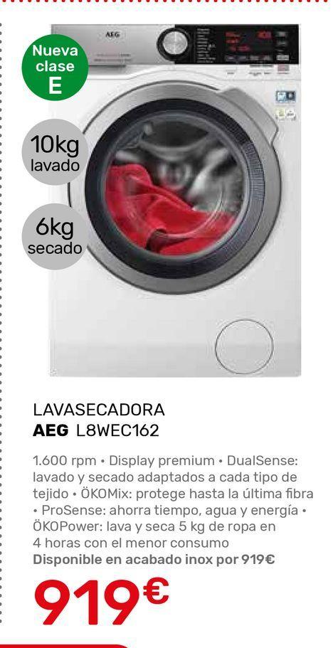 Oferta de Lavadora secadora AEG por 919€
